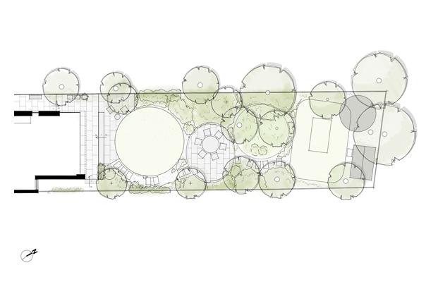 Dulwich woodland garden sketch 3